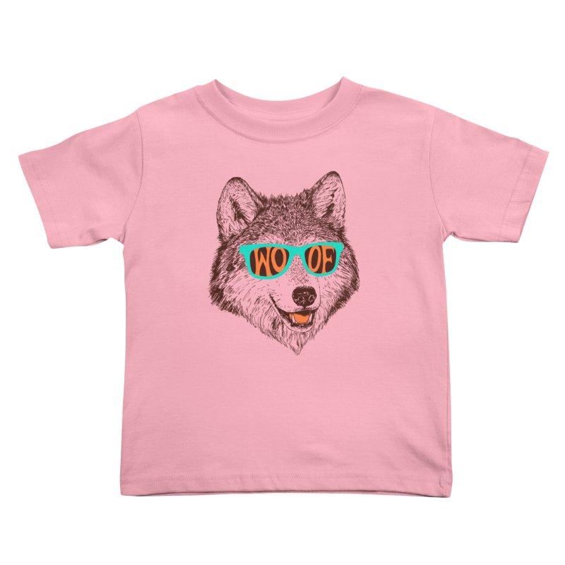 Woof Kids Toddler T-Shirt by Hillary White Rabbit