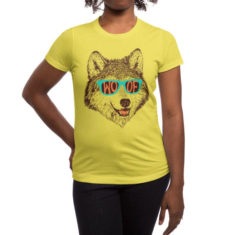 Woof Women's T-Shirt by Hillary White Rabbit