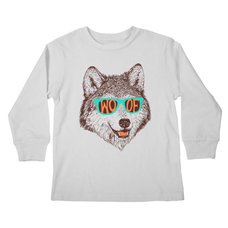 Woof Kids Longsleeve T-Shirt by Hillary White Rabbit