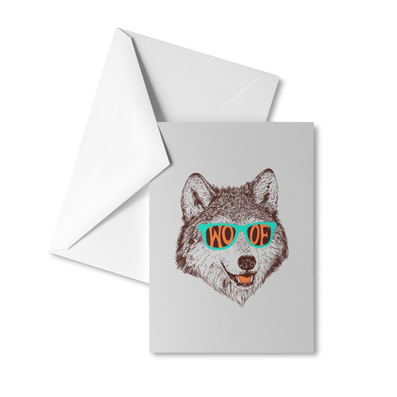 Woof Accessories Greeting Card by Hillary White