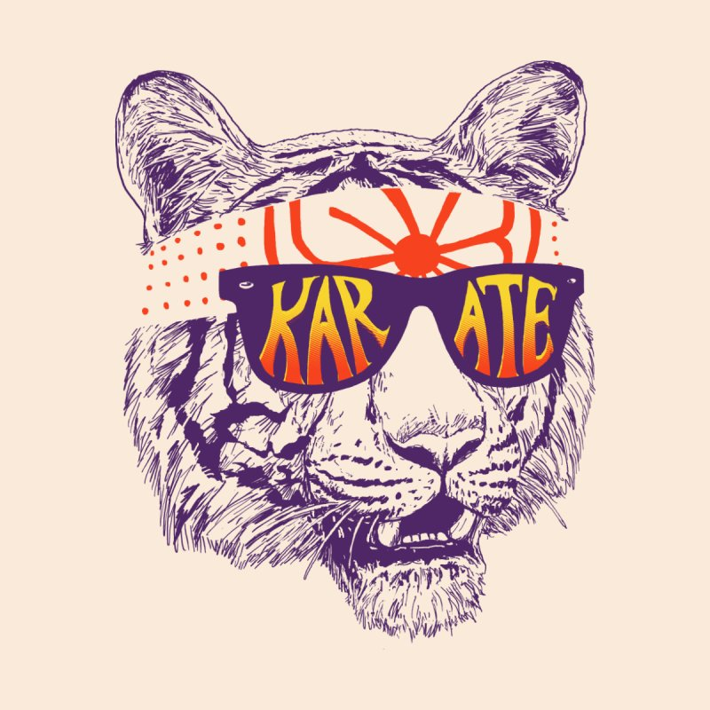 Karate Tiger by hillarywhiterabbit's Artist Shop