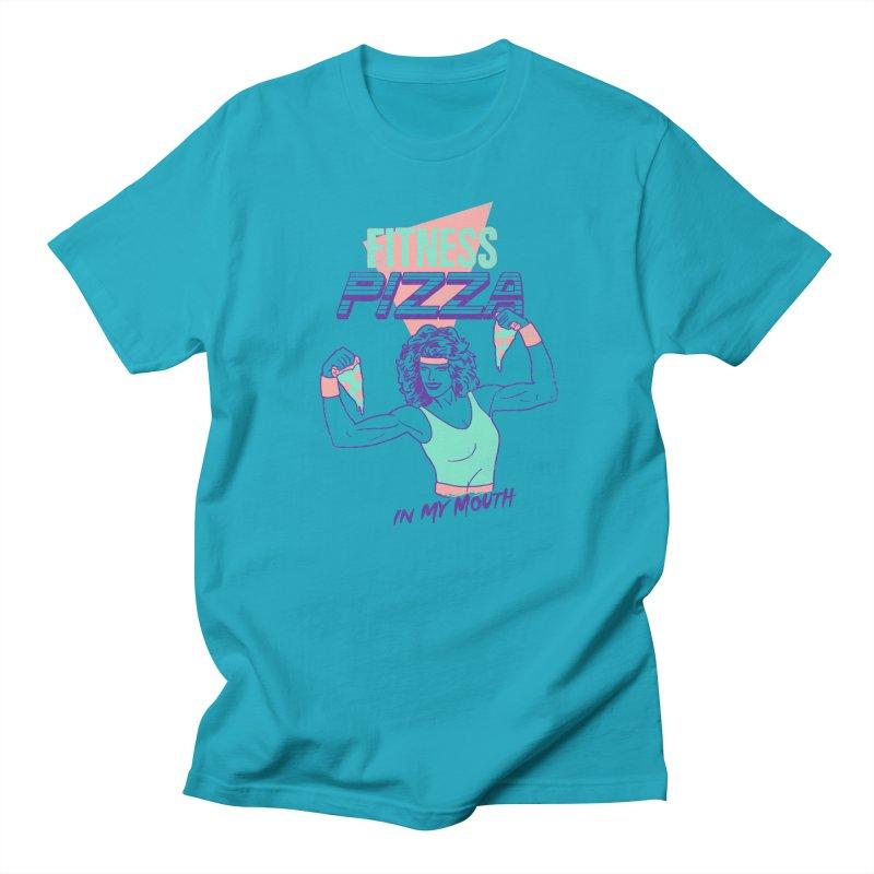 Fitness Pizza Men's T-Shirt by hillarywhiterabbit's Artist Shop