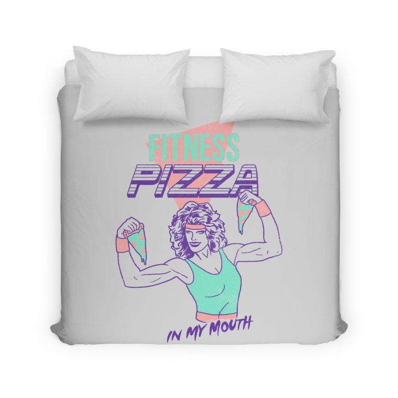 Fitness Pizza Home Duvet by hillarywhiterabbit's Artist Shop