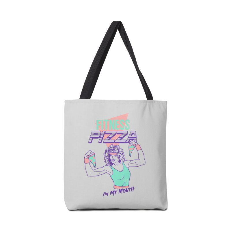 Fitness Pizza Accessories Bag by hillarywhiterabbit's Artist Shop