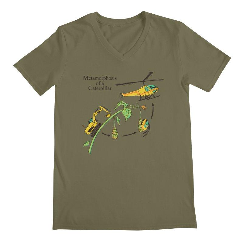 Metamorphosis of a Caterpillar Men's V-Neck by hillarywhiterabbit's Artist Shop