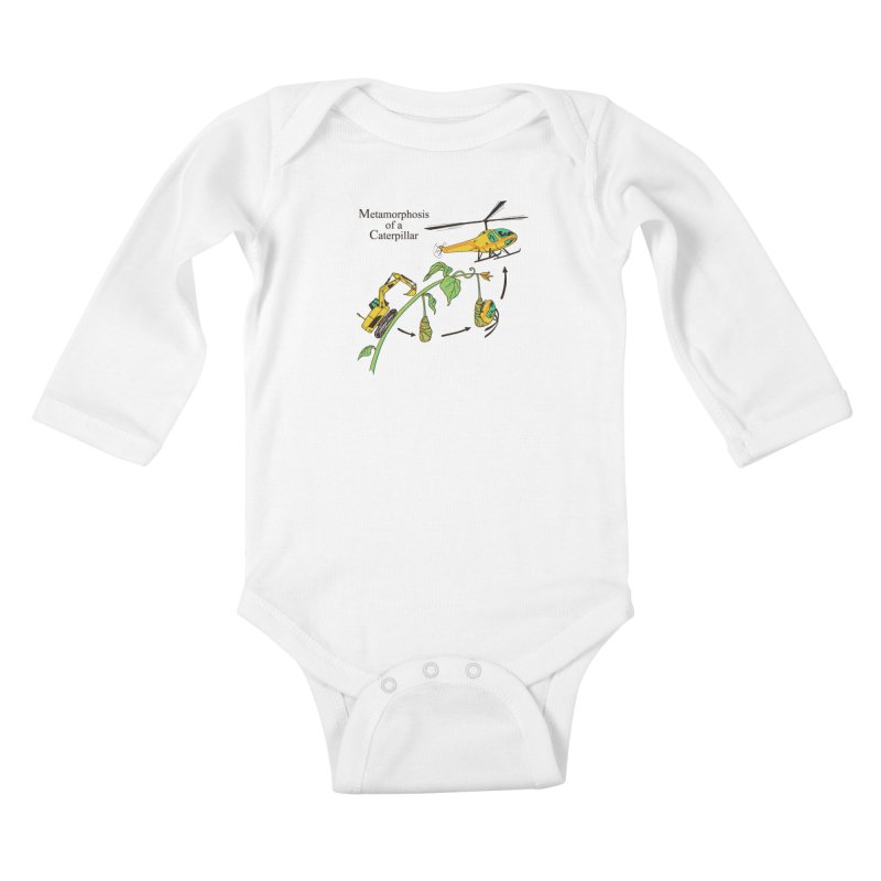 Metamorphosis of a Caterpillar Kids Baby Longsleeve Bodysuit by hillarywhiterabbit's Artist Shop