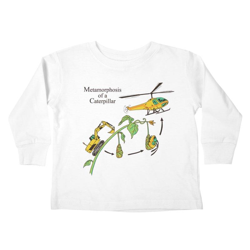 Metamorphosis of a Caterpillar Kids Toddler Longsleeve T-Shirt by hillarywhiterabbit's Artist Shop