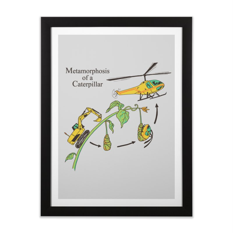Metamorphosis of a Caterpillar Home Framed Fine Art Print by hillarywhiterabbit's Artist Shop