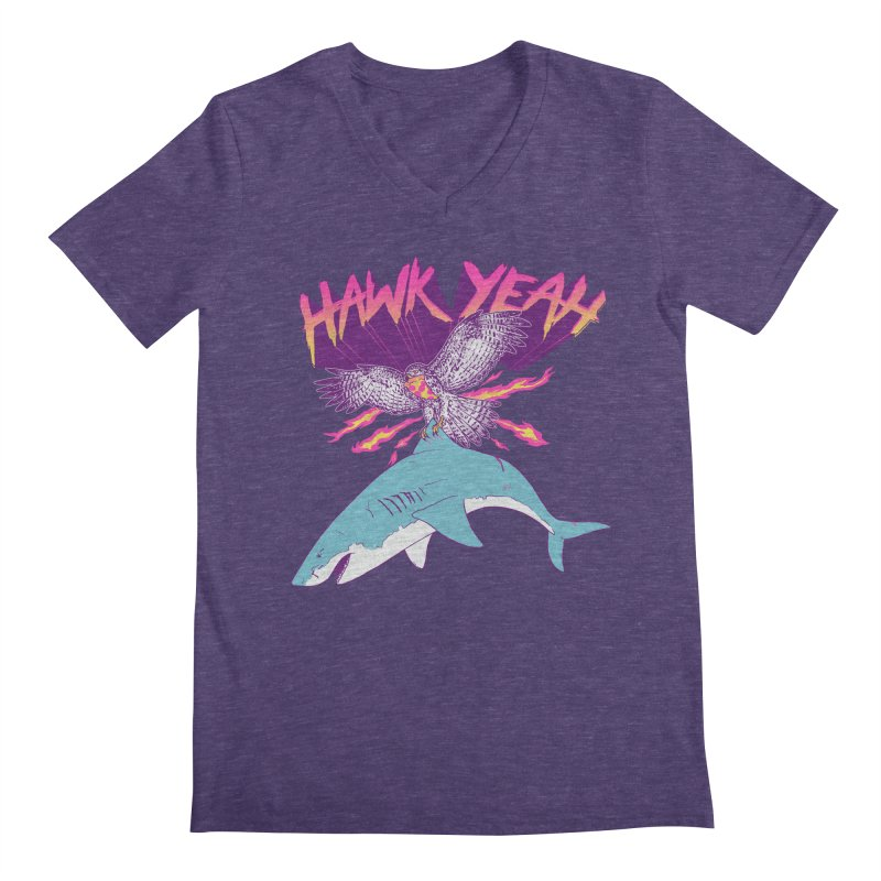 Hawk Yeah Men's V-Neck by hillarywhiterabbit's Artist Shop