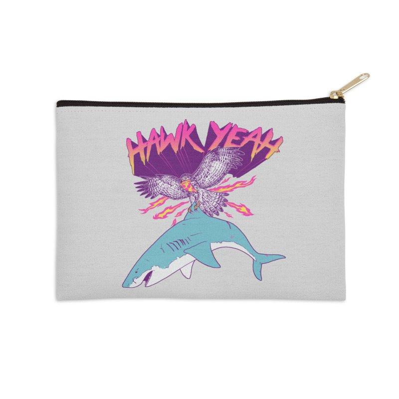 Hawk Yeah Accessories Zip Pouch by hillarywhiterabbit's Artist Shop