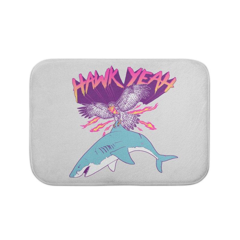 Hawk Yeah Home Bath Mat by hillarywhiterabbit's Artist Shop