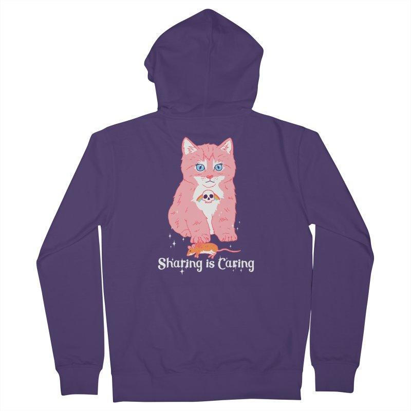Sharing is Caring Women's Zip-Up Hoody by hillarywhiterabbit's Artist Shop