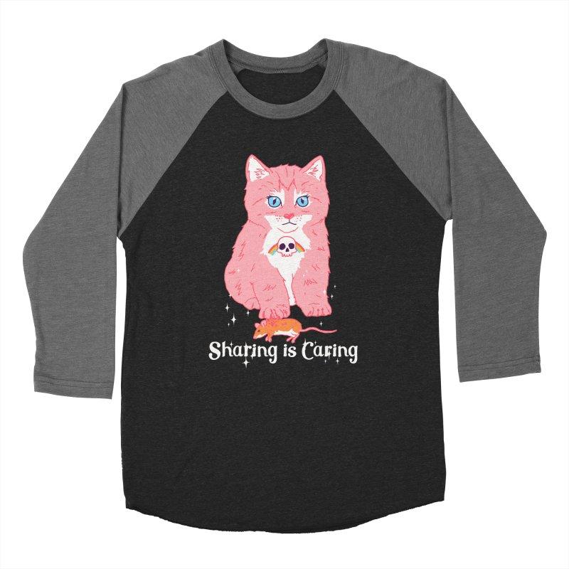 Sharing is Caring Women's Baseball Triblend T-Shirt by hillarywhiterabbit's Artist Shop