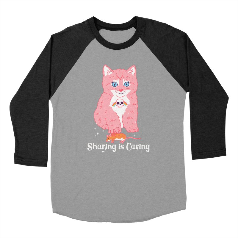 Sharing is Caring Men's Baseball Triblend T-Shirt by hillarywhiterabbit's Artist Shop