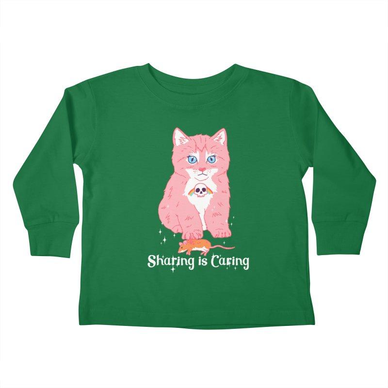 Sharing is Caring Kids Toddler Longsleeve T-Shirt by hillarywhiterabbit's Artist Shop