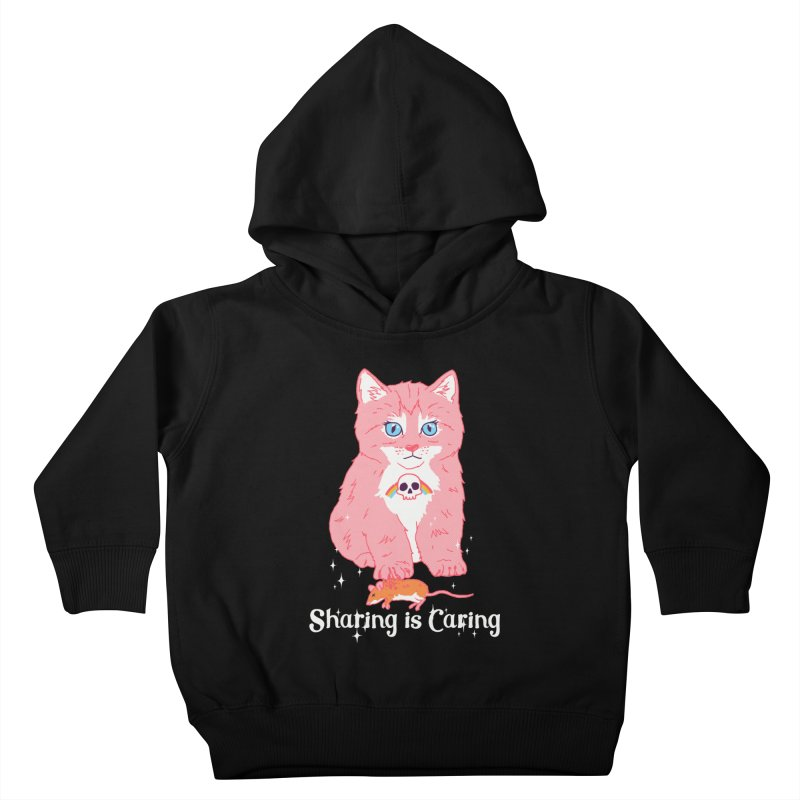 Sharing is Caring Kids Toddler Pullover Hoody by hillarywhiterabbit's Artist Shop