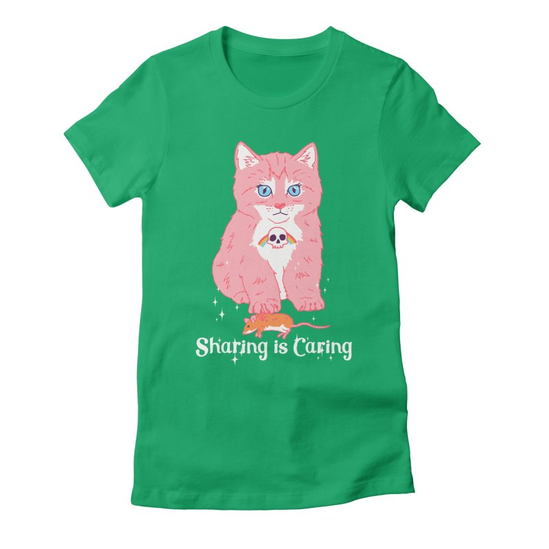 Sharing is Caring Women's Fitted T-Shirt by hillarywhiterabbit's Artist Shop