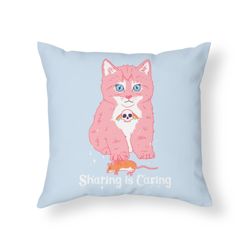 Sharing is Caring Home Throw Pillow by hillarywhiterabbit's Artist Shop