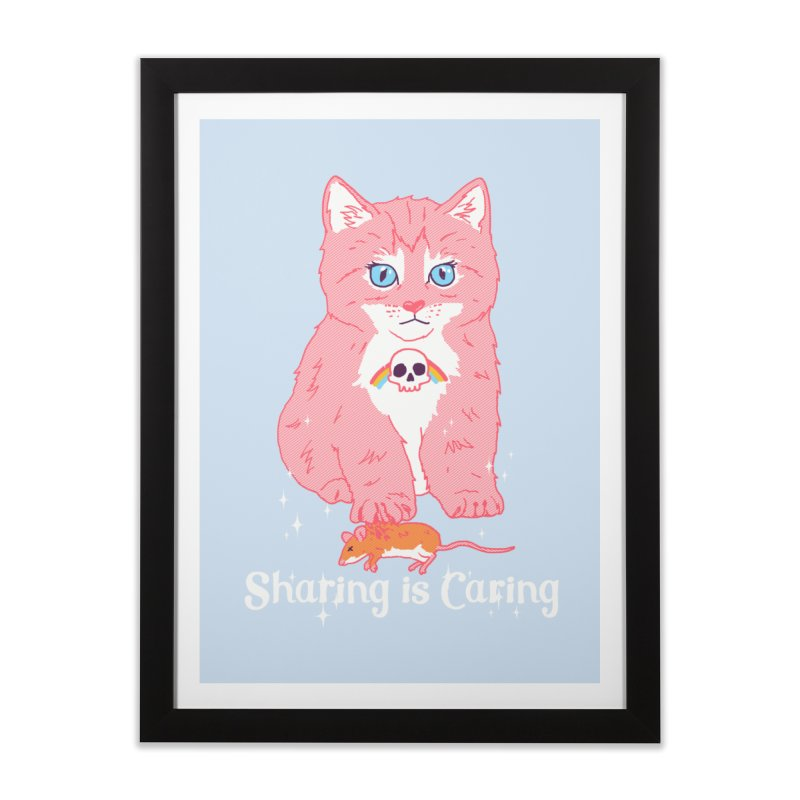 Sharing is Caring Home Framed Fine Art Print by hillarywhiterabbit's Artist Shop