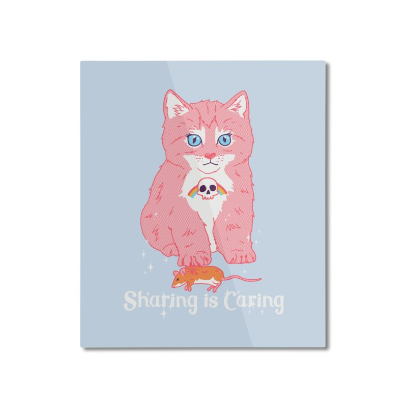 Sharing is Caring Home Mounted Aluminum Print by hillarywhiterabbit's Artist Shop