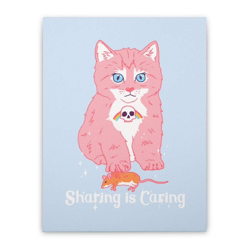 Sharing is Caring Home Stretched Canvas by hillarywhiterabbit's Artist Shop