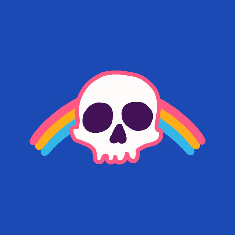 Rainbow Skull by hillarywhiterabbit's Artist Shop