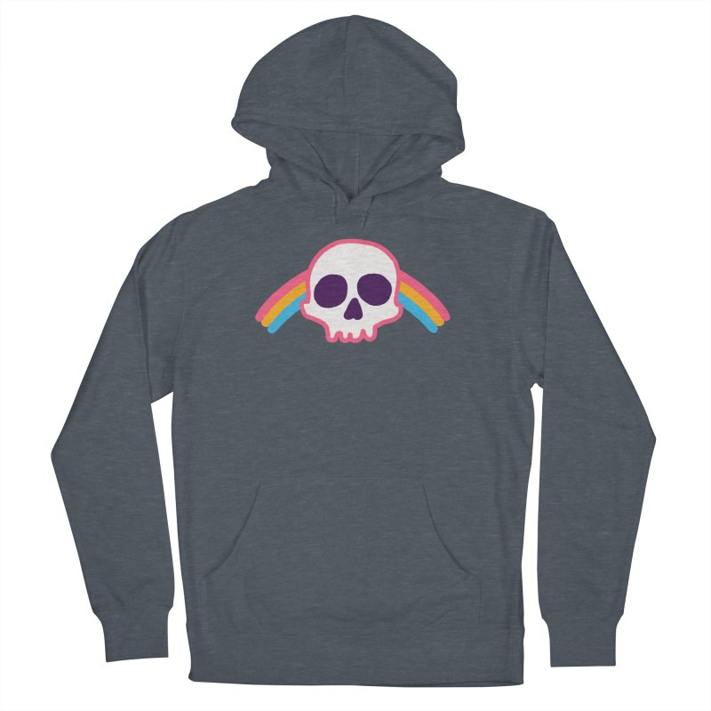 Rainbow Skull Women's Pullover Hoody by hillarywhiterabbit's Artist Shop