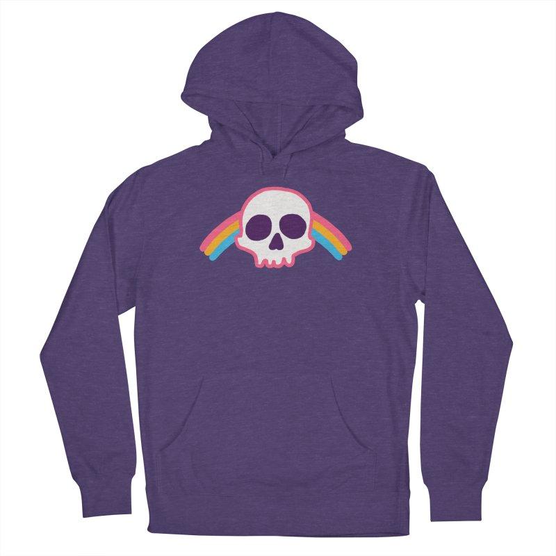 Rainbow Skull Men's Pullover Hoody by hillarywhiterabbit's Artist Shop