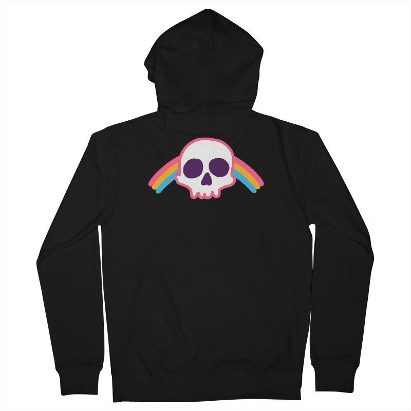 Rainbow Skull Women's Zip-Up Hoody by hillarywhiterabbit's Artist Shop