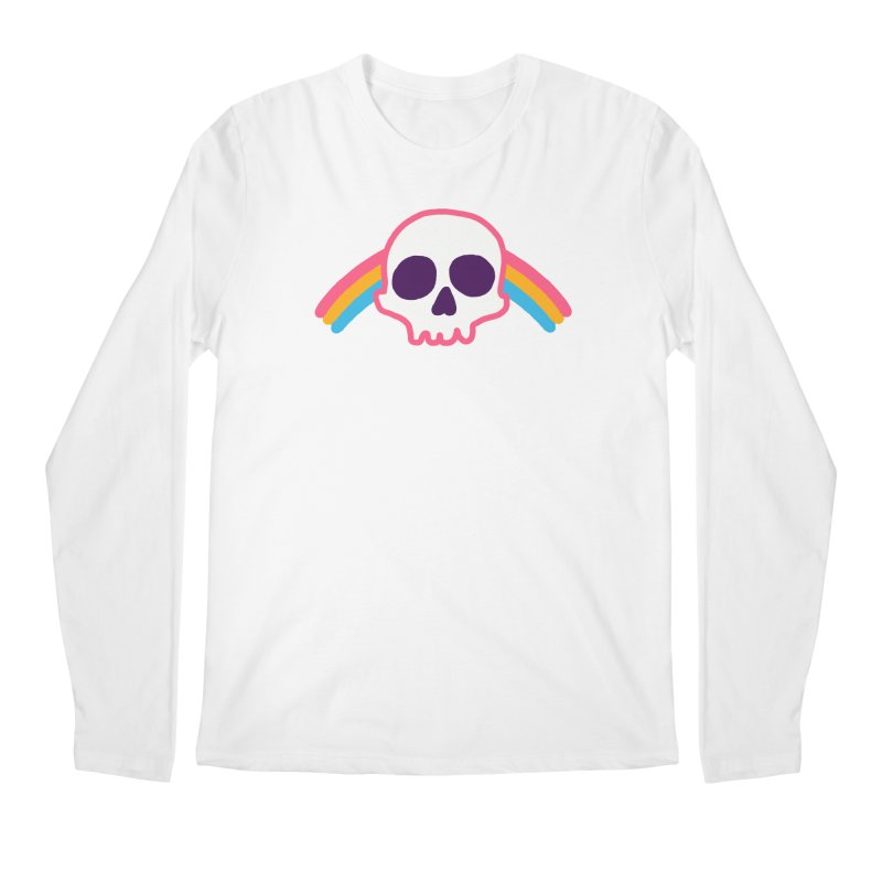 Rainbow Skull Men's Longsleeve T-Shirt by hillarywhiterabbit's Artist Shop