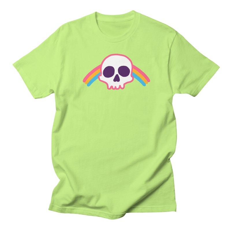 Rainbow Skull Men's T-Shirt by hillarywhiterabbit's Artist Shop