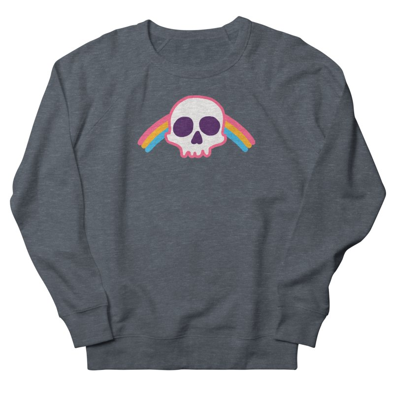 Rainbow Skull Men's Sweatshirt by hillarywhiterabbit's Artist Shop