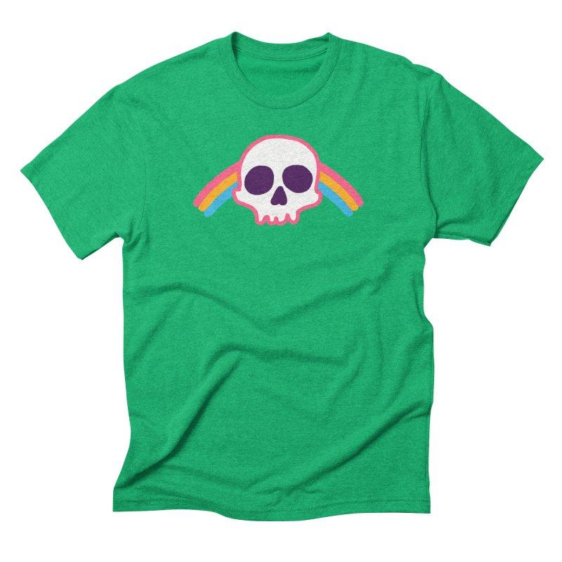 Rainbow Skull Men's Triblend T-Shirt by hillarywhiterabbit's Artist Shop