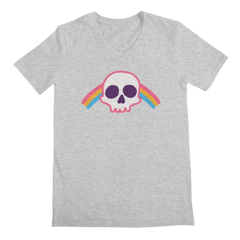 Rainbow Skull Men's V-Neck by hillarywhiterabbit's Artist Shop