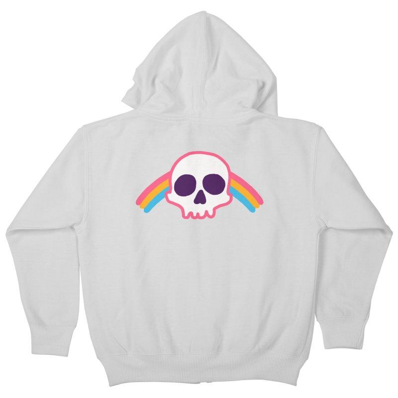 Rainbow Skull Kids Zip-Up Hoody by hillarywhiterabbit's Artist Shop