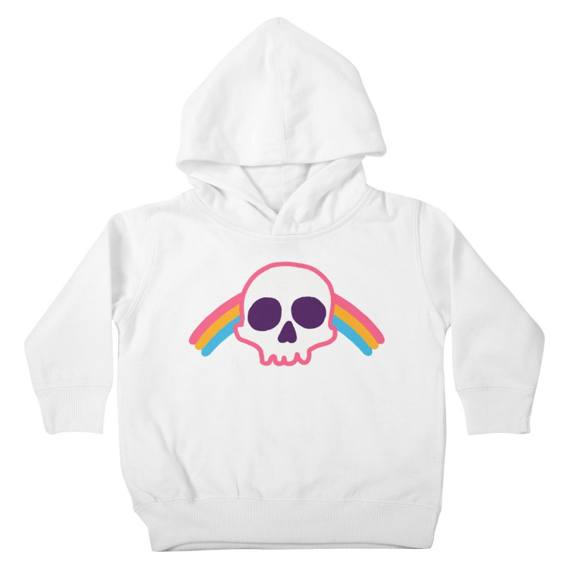 Rainbow Skull Kids Toddler Pullover Hoody by hillarywhiterabbit's Artist Shop