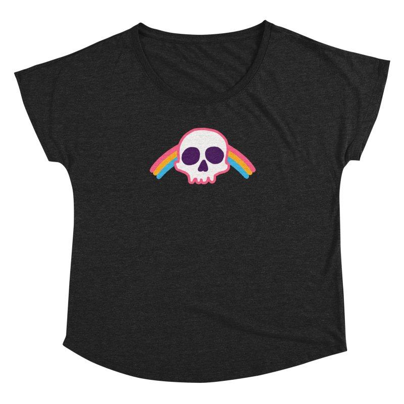 Rainbow Skull Women's Dolman by hillarywhiterabbit's Artist Shop