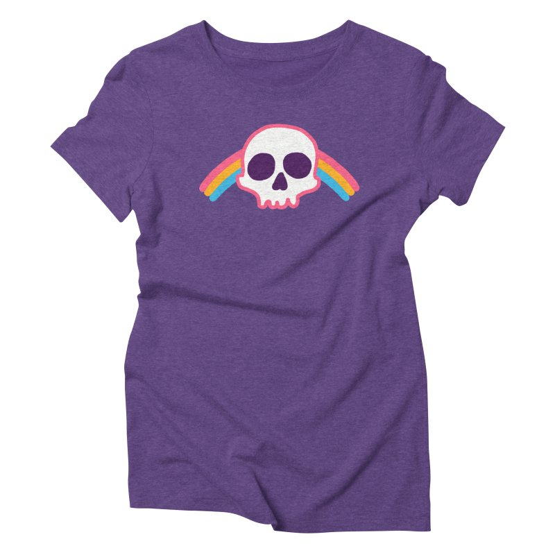 Rainbow Skull Women's Triblend T-Shirt by hillarywhiterabbit's Artist Shop