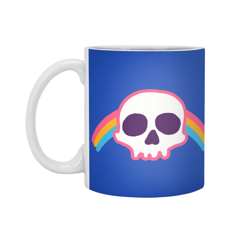 Rainbow Skull Accessories Mug by hillarywhiterabbit's Artist Shop