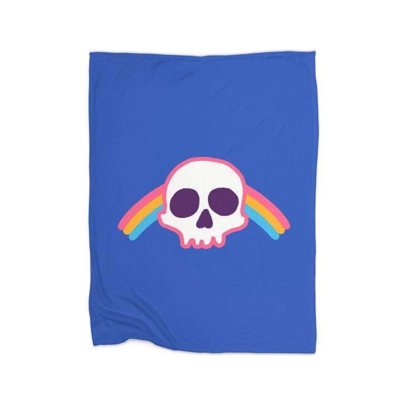 Rainbow Skull Home Blanket by hillarywhiterabbit's Artist Shop
