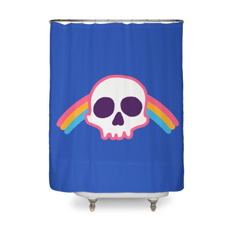Rainbow Skull Home Shower Curtain by hillarywhiterabbit's Artist Shop
