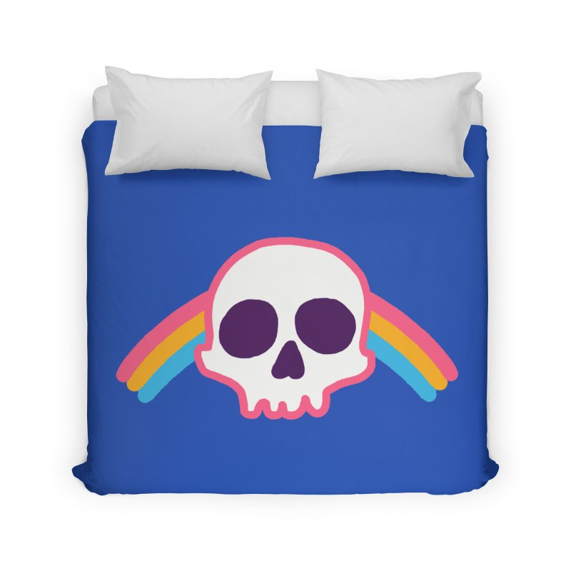 Rainbow Skull Home Duvet by hillarywhiterabbit's Artist Shop