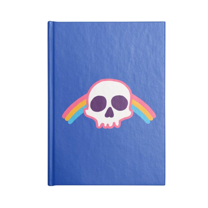 Rainbow Skull Accessories Notebook by hillarywhiterabbit's Artist Shop