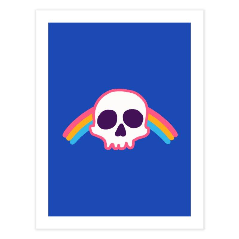 Rainbow Skull Home Fine Art Print by hillarywhiterabbit's Artist Shop