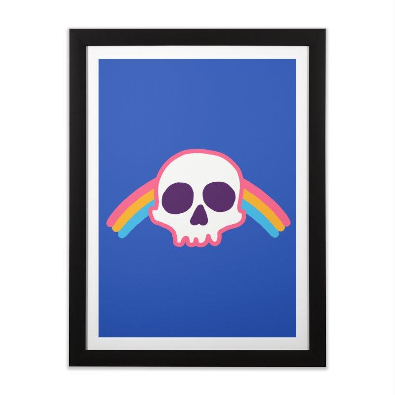 Rainbow Skull Home Framed Fine Art Print by hillarywhiterabbit's Artist Shop
