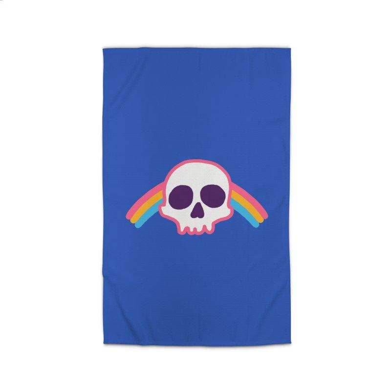 Rainbow Skull Home Rug by hillarywhiterabbit's Artist Shop