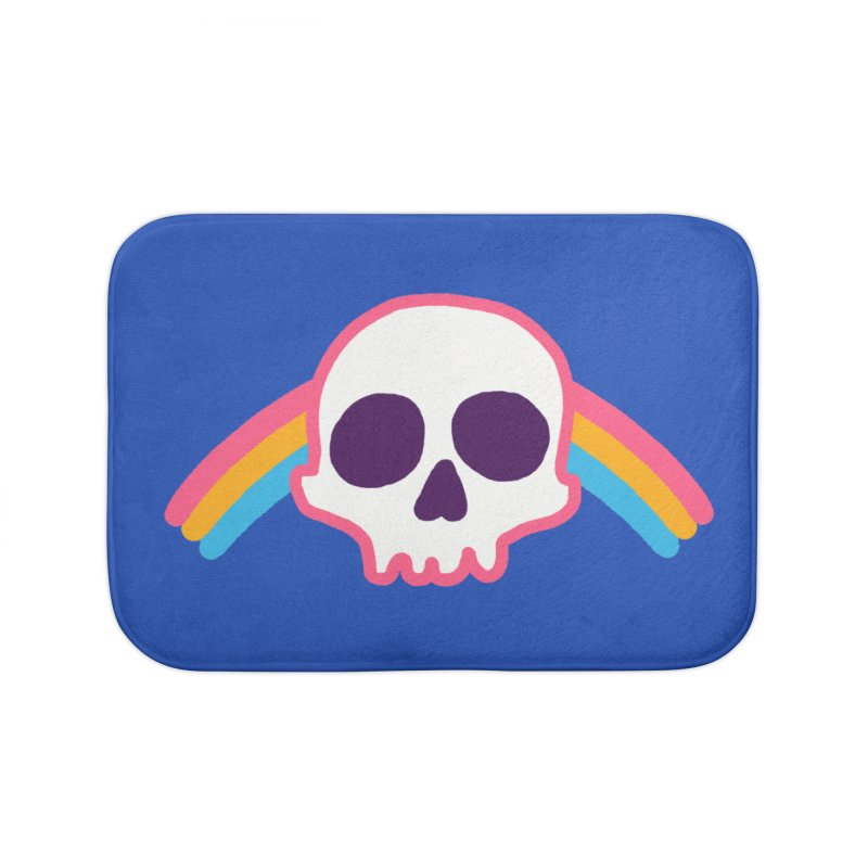 Rainbow Skull Home Bath Mat by hillarywhiterabbit's Artist Shop