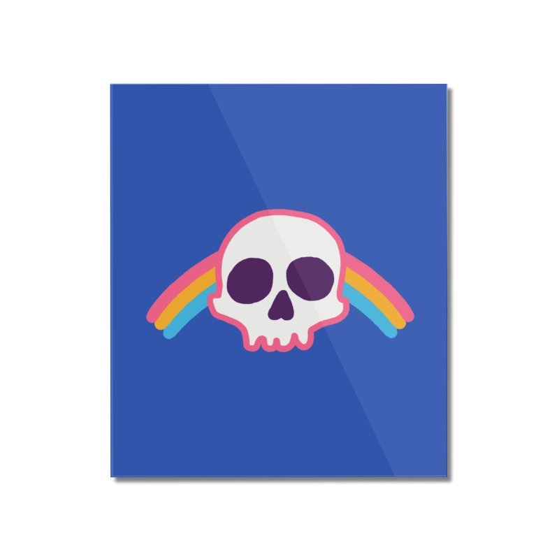 Rainbow Skull Home Mounted Acrylic Print by hillarywhiterabbit's Artist Shop