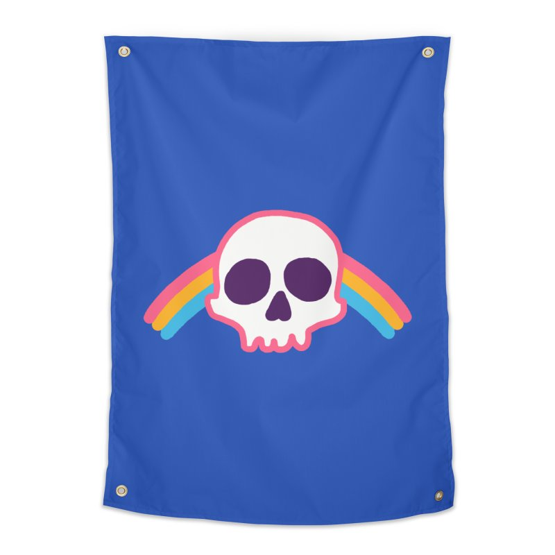 Rainbow Skull Home Tapestry by hillarywhiterabbit's Artist Shop