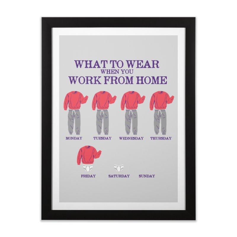 What To Wear Home Framed Fine Art Print by hillarywhiterabbit's Artist Shop